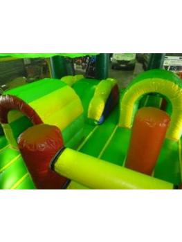 T Rex Dinosaur Jumping Castle Complete obstacles